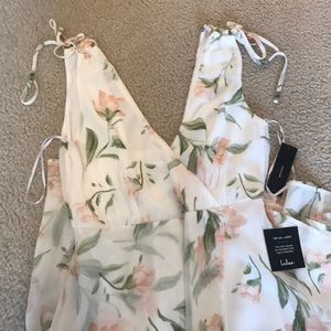 Stunning floral faux wrap maxi. NWT